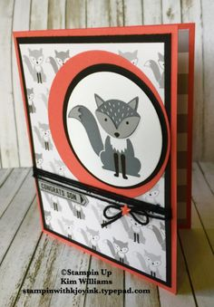 Stampin Up Foxy Friends stamp set. Fox Builder punch and A Little Foxy designer…