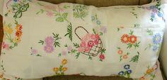 vintage embroidery patchwork for cushion cover