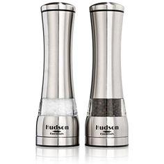 Hudson Essentials Deluxe Salt and Pepper Grinder Set - Ceramic Blade  #KitchenUtensilsGadgets