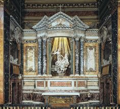Santa Maria, Caravaggio, Bernini Sculpture, Gian Lorenzo Bernini, Italian Sculptors, Marble Mosaic, Baroque Fashion, Fresco, Rome
