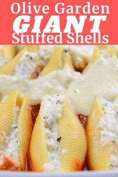 Easy Chicken Recipes, Easy Dinner Recipes, Crockpot Recipes, Cooking Recipes, Easy Dinners, Chicken Stuffed Shells, Cheese Stuffed Shells, Olive Garden Stuffed Shells Recipe, Barilla Stuffed Shells Recipe