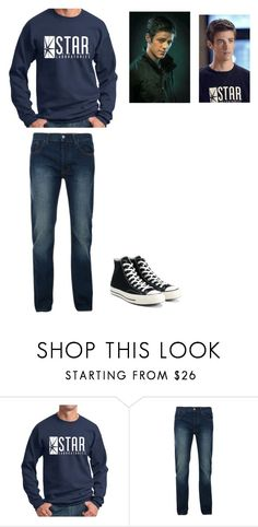 """""""Barry's Set #1"""" by thegirlinthehood ❤ liked on Polyvore featuring Bellfield, Converse, men's fashion, menswear, theflash and barryallen"""