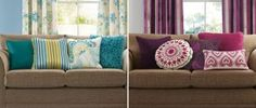 Light And Dark Teal Reversible Crinkle Cushion from the