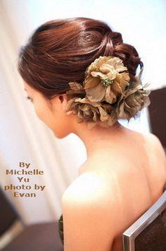 very wed - taiwan asian wedding hair