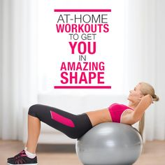 Get in amazing shape with these 4 Workouts You Can Do At Home!  #athomeworkouts #workouts #fitness