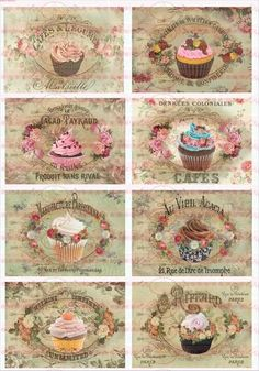 Bügelbild Cupcake Paris French Kuchen  1506 von Doreen`s Bastelstube  - Kreativ & Außergewöhnlich auf DaWanda.com