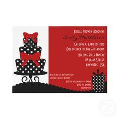 Black, white, and red invitation
