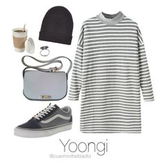 ☆ study work with Yoongi ☆ by youaremorethanbeautiful on Polyvore featuring polyvore, fashion, style, Vans, Marni, Karen Kane, New Look and clothing