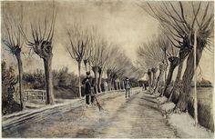 Amazing drawing by Vincent van Gogh / Road in Etten / 1881 / chalk, pencil, pastel, watercolor / The Metropolitan Museum of Art