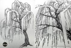 Willow tree in progress by mofdesign, via Flickr