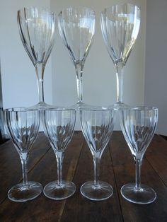 "Vintage Wine Glass Goblet Nachtmann Crystal Aspen Pattern 9"" from historique on Ruby Lane"