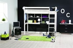 This is the Thuka Trendy 33 High Sleeper Bed with some great storage options