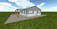 3D #architecture via @themuellerinc http://ift.tt/2hxcDPI #barn #workshop #greenhouse #garage #DIY