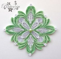 Quilling snowflake