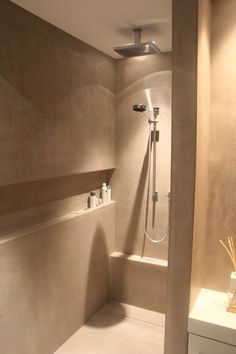 Shower with incorporated shelf niche