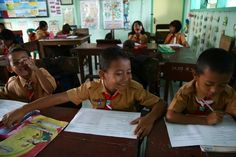 going back to school in Indonesia