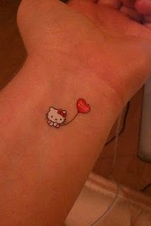 Hello Kitty Wrist Tattoo, for the girly girls I guess personally I like the balloon.