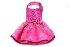 Elegant Fuchsia Dog Dress (size small)