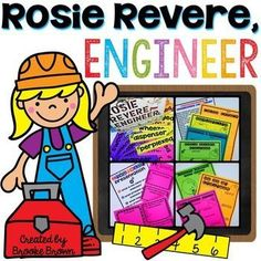 Need to spark imaginations for your elementary engineers? These Rosie Revere, Engineer activities and book supplements are perfect to inspire your students to invent, create, and persevere during STEM challenges!