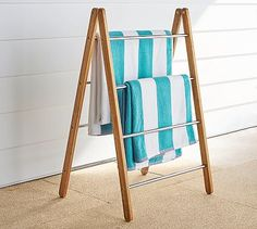 Pool Towel Drying Rack Fair 6 Ft Pool Towel Rack Beach Towel Ladder Pool Towel Stand Inspiration Design