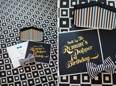 A Dapper 1st Birthday Party- Suit & Tie- This is the best first birthday party for a boy that I've seen. Love it!