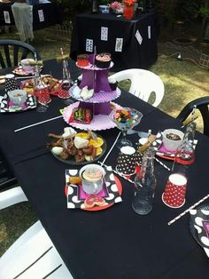 Mad hatters bachelorette table setting