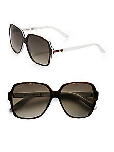 4a63f5781858 Gucci - Glam Web Square Sunglasses Ray Ban Sunglasses Outlet