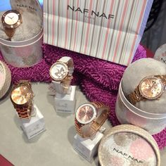 Colección de NafNaf París Watches en nuestro mostrador. Naf Naf Watches collection on our jewellery desk.