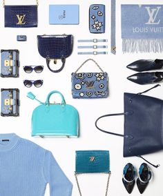 Turquoise blue suggests an alternative elegance: #LouisVuitton in color