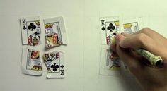Realism Challenge: Playing Card – Mark Crilley Shreads a Playing Card and Draws a Photo Realistic Copy (Clip)