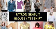 Ma sélection de patron couture pour se coudre un haut de femme, plusieurs modèles à coudre sont disponible à imprimer en plusieurs tailles, venez découvrir ma liste de mes tutos favoris