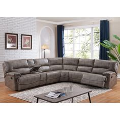 Donovan Sectional Sofa With 3 Reclining Seats By AC Pacific. Home Living  RoomLiving Room FurnitureSectional ...