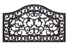 Scroll Wave Cast Iron Vulcanized Rubber Outdoor Mat 18x30 by Iron Gate - Classic styling and Ultra-Strong construction - Heavy duty rubber with the look of iron - Welcome your guests with this high quality doormat Iron Gate http://www.amazon.com/dp/B004XKUREM/ref=cm_sw_r_pi_dp_5bY9vb0EWNJHM