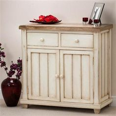ACHICA | Hampton White Two Door and Drawer Sideboard