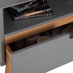 Lowboard TIBOR Kiefer massiv in grau Kiefer, Montage, Customer Support, Nordic Style, Tv Cupboard, Tv Units, Scandinavian Design, Grey