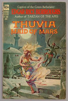 scificovers: Thuvia Maid of Mars by Edgar Rice Burroughs Ace Books 1962. Cover art by Roy G. Krenkel.