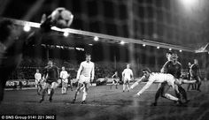 Alex McLeish scores for Aberdeen against Bayern Munich in the 1982/83 European Cup Winners' Cup.