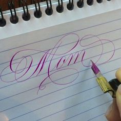 """4,146 Likes, 122 Comments - Suzanne Cunningham (@suzcunningham) on Instagram: """"Most magical name ever. Happy Mother's Day to all you wonderful Moms!!  #mothersday #calligraphy…"""""""