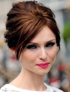 Lovely updo and bridal makeup inspiration @Christina Childress Larson @Laura Jayson Anderson @Tiffani Anderson Cantu