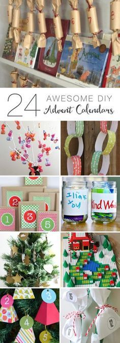 24 Awesome DIY Advent Calendars for you Christmas countdown