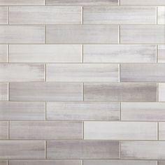 Shower wall option --- Linen Shadow Polished Ceramic Tile - 4 x 16 - 100506112 Bath Remodel, Kitchen Remodel, House Tiles, Bathroom Floor Tiles, Ceramic Tile Bathrooms, Shower Tiles, Bath Tiles, Bathroom Mirrors, Floor Decor