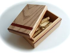 Handmade Oak Bloodwood Wood Box, Gift Box, Tarot Box, Ooak Made In Canada