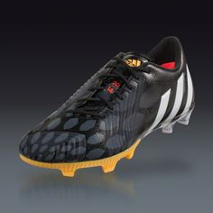 adidas Predator Instinct FG - Black Running White neon orange Firm Ground  Soccer Shoes  e8c9783a590f8
