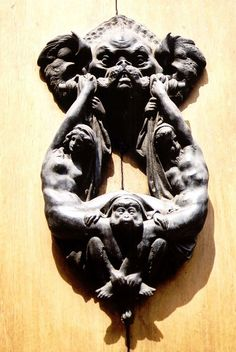 From a trip to Florence. The craziest doorknocker in all of Italy. Anyone know the story behind it?