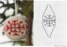 Bilderesultat for knit christmas balls pattern