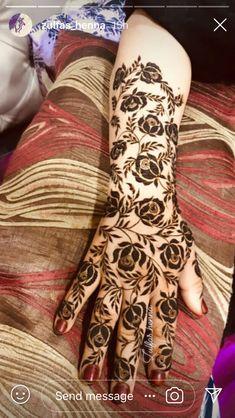 Latest arabic mehndi designs for hands - Henna - Henna Designs Hand Wedding Henna Designs, Rose Mehndi Designs, Khafif Mehndi Design, Latest Arabic Mehndi Designs, Henna Art Designs, Indian Mehndi Designs, Mehndi Designs For Girls, Mehndi Designs 2018, Modern Mehndi Designs