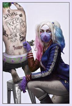 Suicide Squad | Harley Quinn (Margot Robbie) tattoos' Joker (Jared Leto)