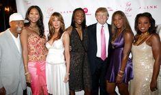 Russell Simmons Kimora Lee Simmons Melania Trump Venus Williams Donald Trump Serena Williams and Star Jones