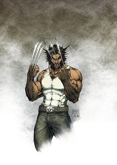 Wolverine by Michael Turner - this guy is a legend and will always have my respect as one of the greatest comic book artists ever! Marvel Wolverine, Marvel Comics, Hq Marvel, Marvel Heroes, Logan Wolverine, Comic Book Characters, Marvel Characters, Comic Character, Comic Books Art