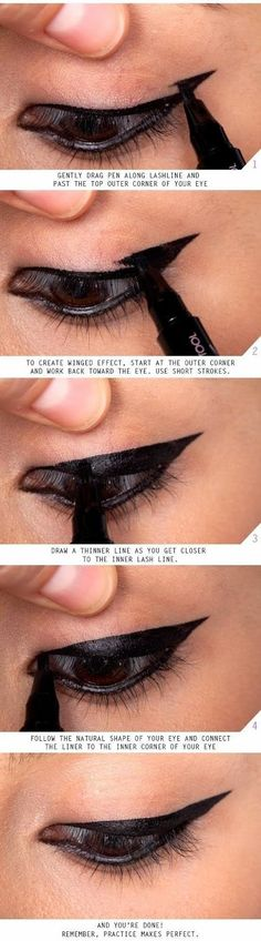See Now : The Easiest Eyeliner Tricks & Tips ~ Just Cool Tips